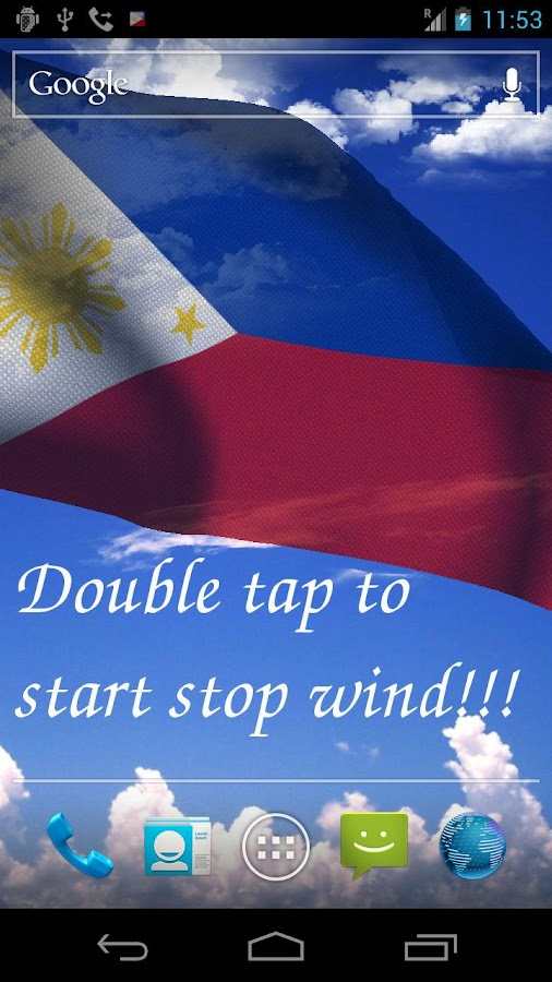 3D Philippines Flag LWP- screenshot