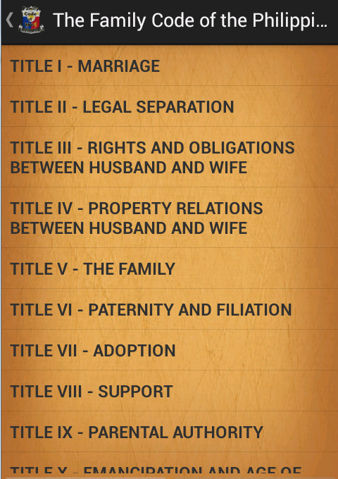 family code of the philippines faqs » laws and acts governing the system » the family code of the philippines titles i, ii, vi, vii, vii, x, xi, xii july 6, 1987 i, corazon c aquino, president of the philippines, by virtue of the powers vested in me by the constitution, do hereby order.