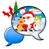 GO SMS THEME/SantaTime