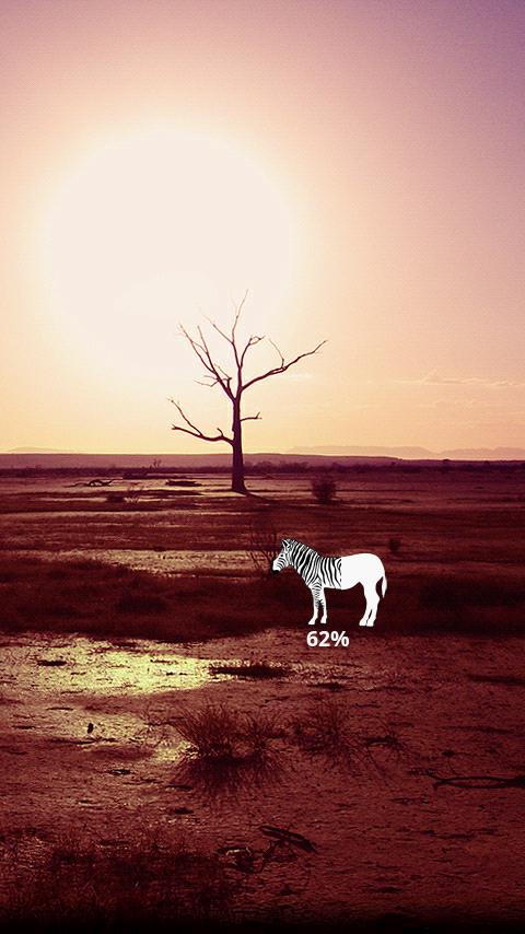 Zebra Battery Widget - screenshot