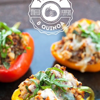 Turkey and Quinoa Stuffed Peppers.