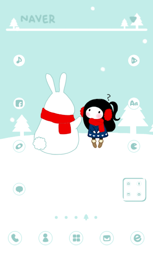Snowman dodol launcher theme
