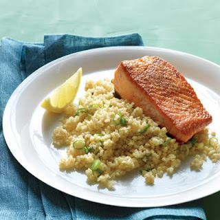 Seared Salmon Fillets with Bulgur.