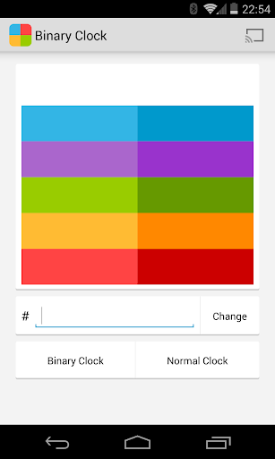 Binary Clock for Chromecast
