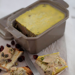 Foie Gras Terrine With Dried Cranberries And Pistachios.