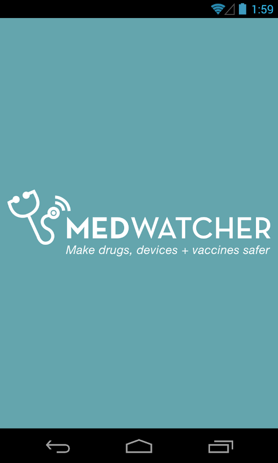 MedWatcher drug/device/vaccine- screenshot