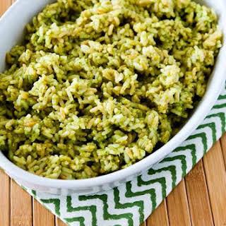 Easy Recipe for Pesto Lemon Rice.