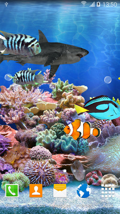 Aquarium live wallpaper hd android apps on google play for Live fish store