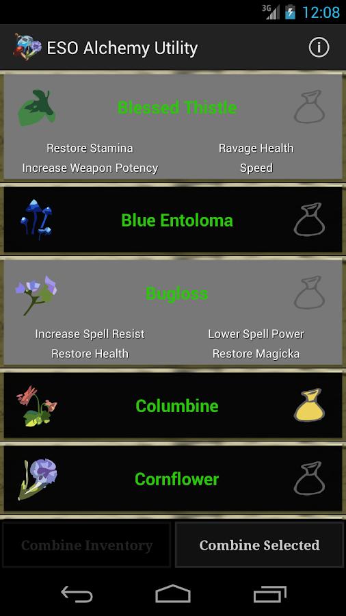 ESO Alchemy Utility - screenshot