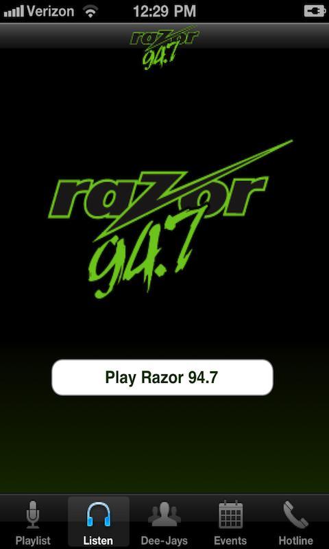 Razor 94.7- screenshot