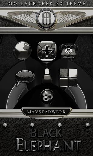 GO Launcher theme Black Elepha