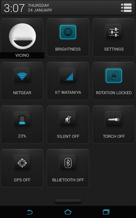 CM10.1 - Bluemint Theme - screenshot