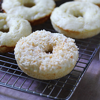 Baked Lemon Donuts with Toasted Coconut Glaze