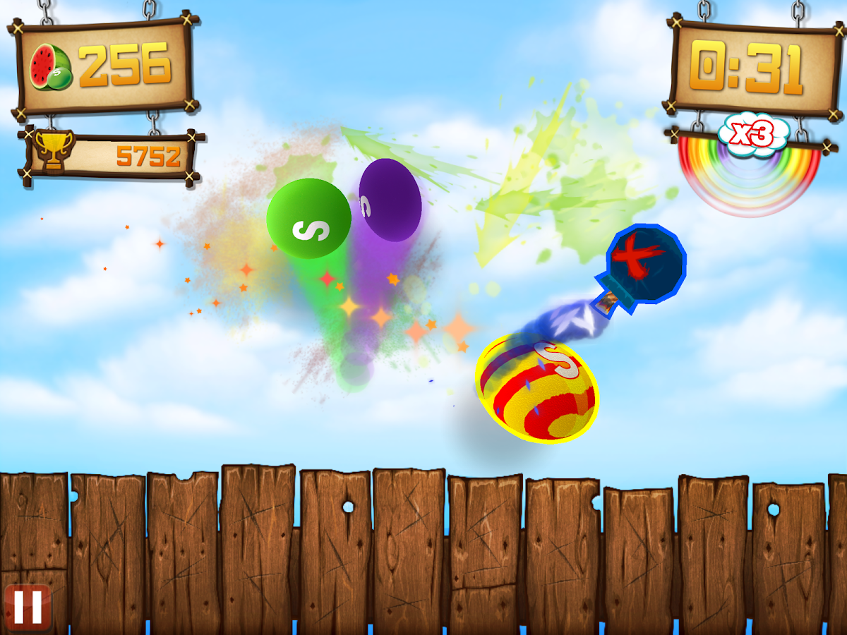 Fruit Ninja vs Skittles - screenshot