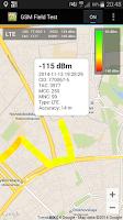 Screenshot of GSM Field Test