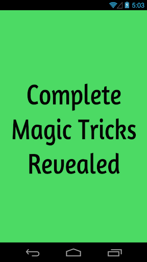 Complete Magic Tricks Revealed