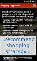 Screenshot of Top Shelf mixed-drinks recipes