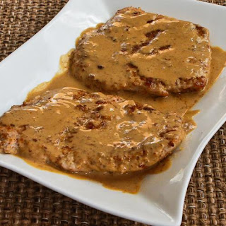 """Breaded"" Pork Chops with Mustard Sauce"