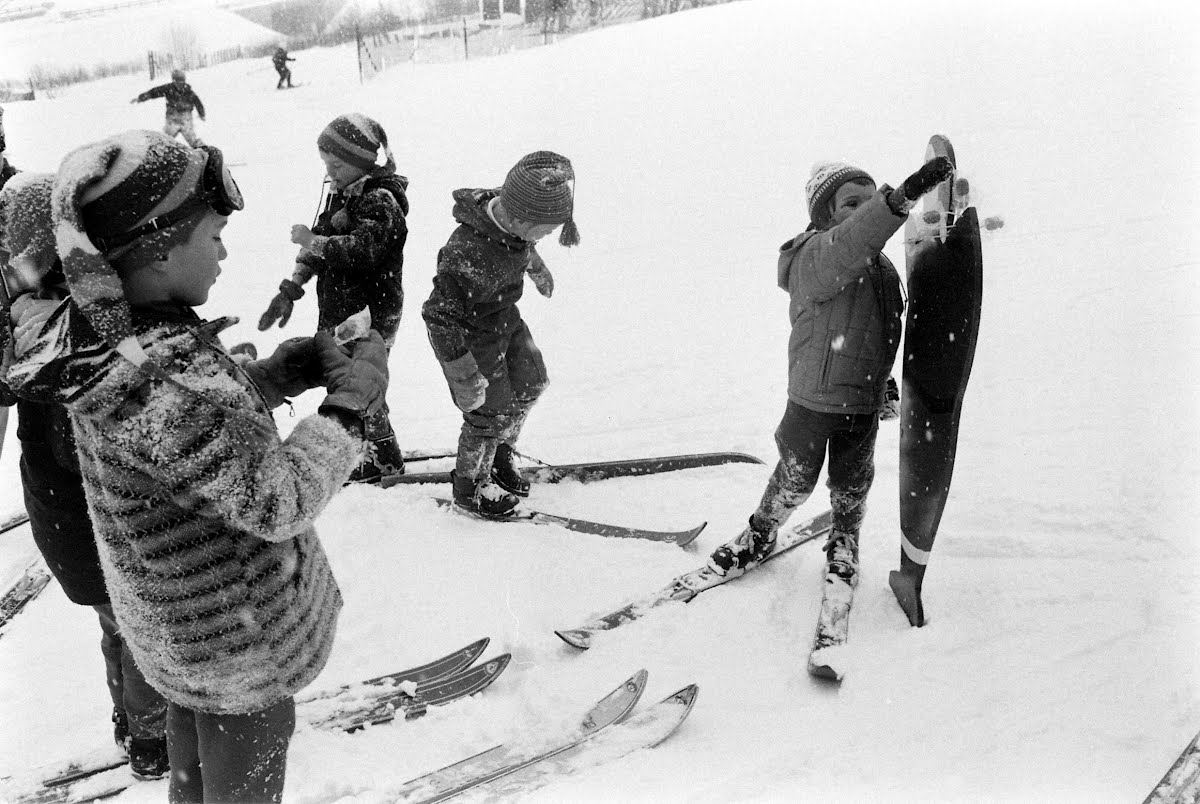 Mother Goose Skiing Class At Mittersill, New Hampshire