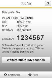 Commerzbank photoTAN - screenshot thumbnail