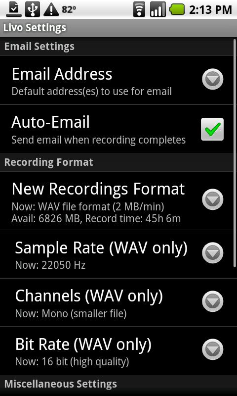 Livo Recorder Pro - screenshot