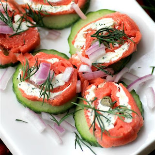 Smoked Salmon Twirls.
