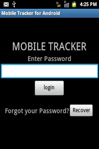 Mobile Tracker for Android - screenshot