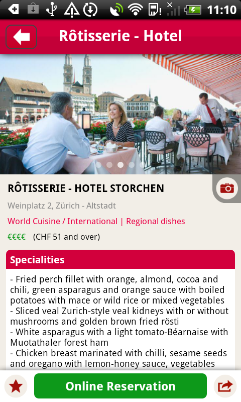 MyTable Restaurant Guide - screenshot