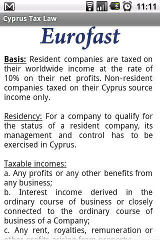 Cyprus Tax Law