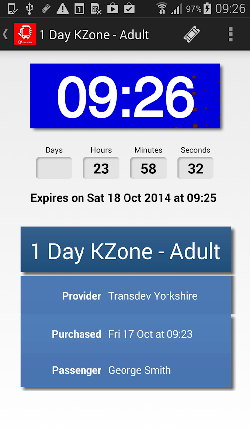 Yorkshire Bus M-tickets- screenshot
