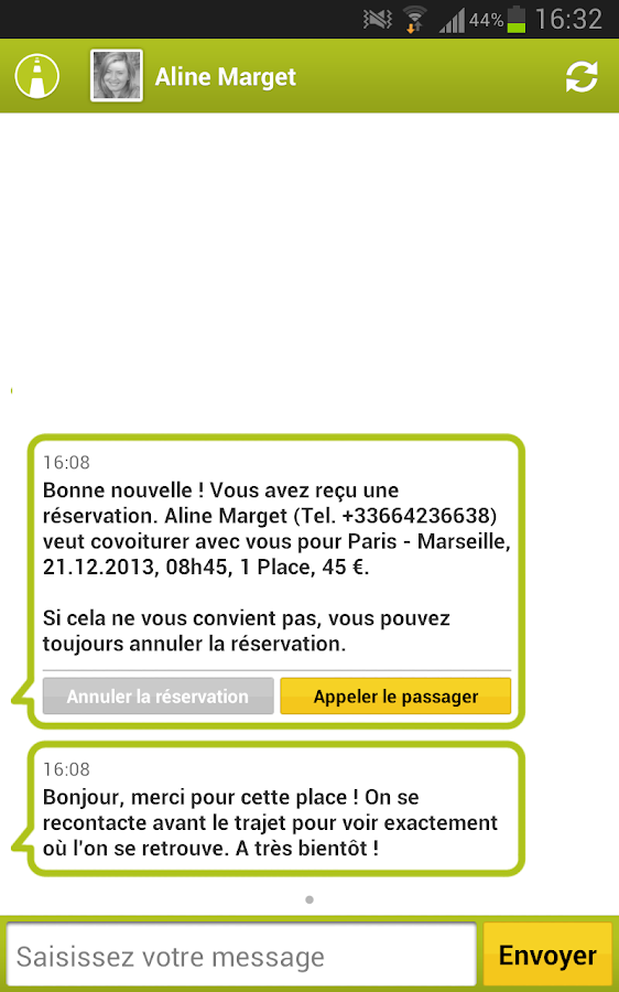 carpooling.fr - screenshot
