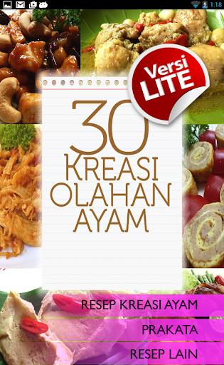 30 Kreasi Olahan Ayam Lite