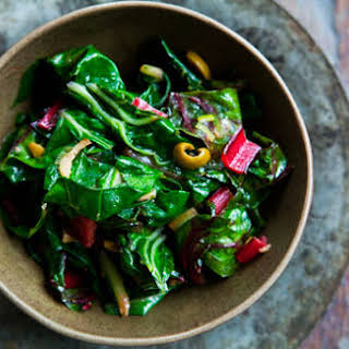Swiss Chard with Olives.