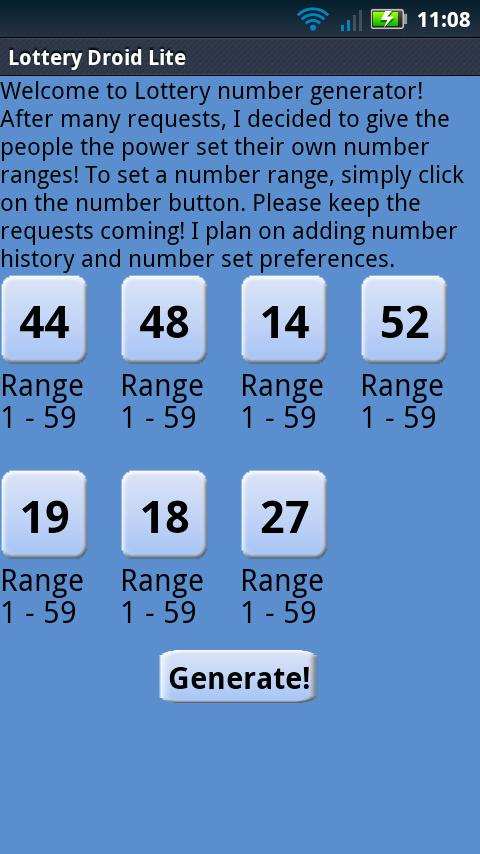 OH Numbers Droid Lite - screenshot