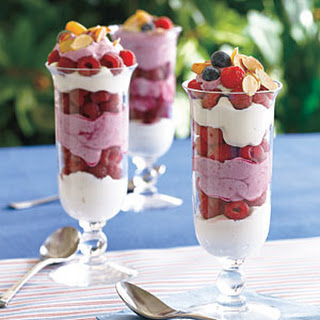 Blueberry Fool with Raspberries