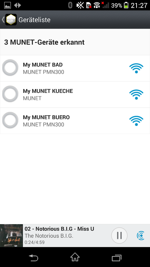 PEAQ MUNET- screenshot