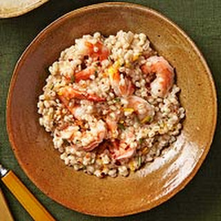 Barley Risotto with Shrimp