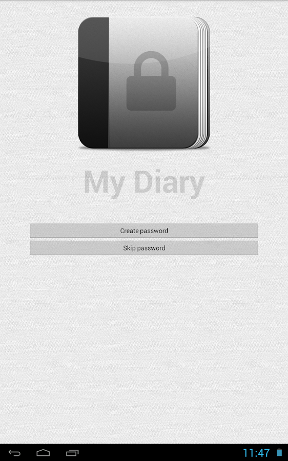 My Diary (gray)- screenshot