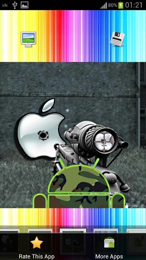 Android vs Apple - screenshot