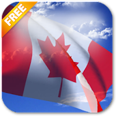 3D Canada Flag Live Wallpaper