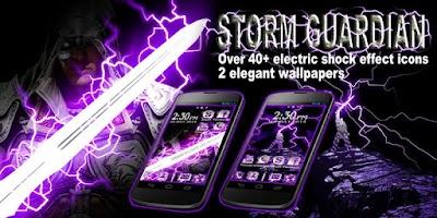 Screenshot of Storm Guardian GO Theme