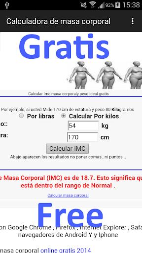 Indice de Masa Corporal IMC