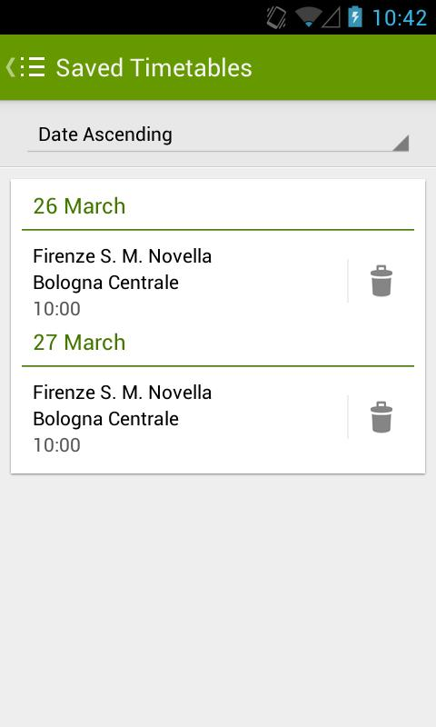 Trains Timetable Italy - screenshot