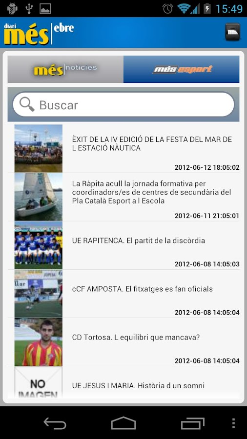 Més Ebre (smartphones)- screenshot