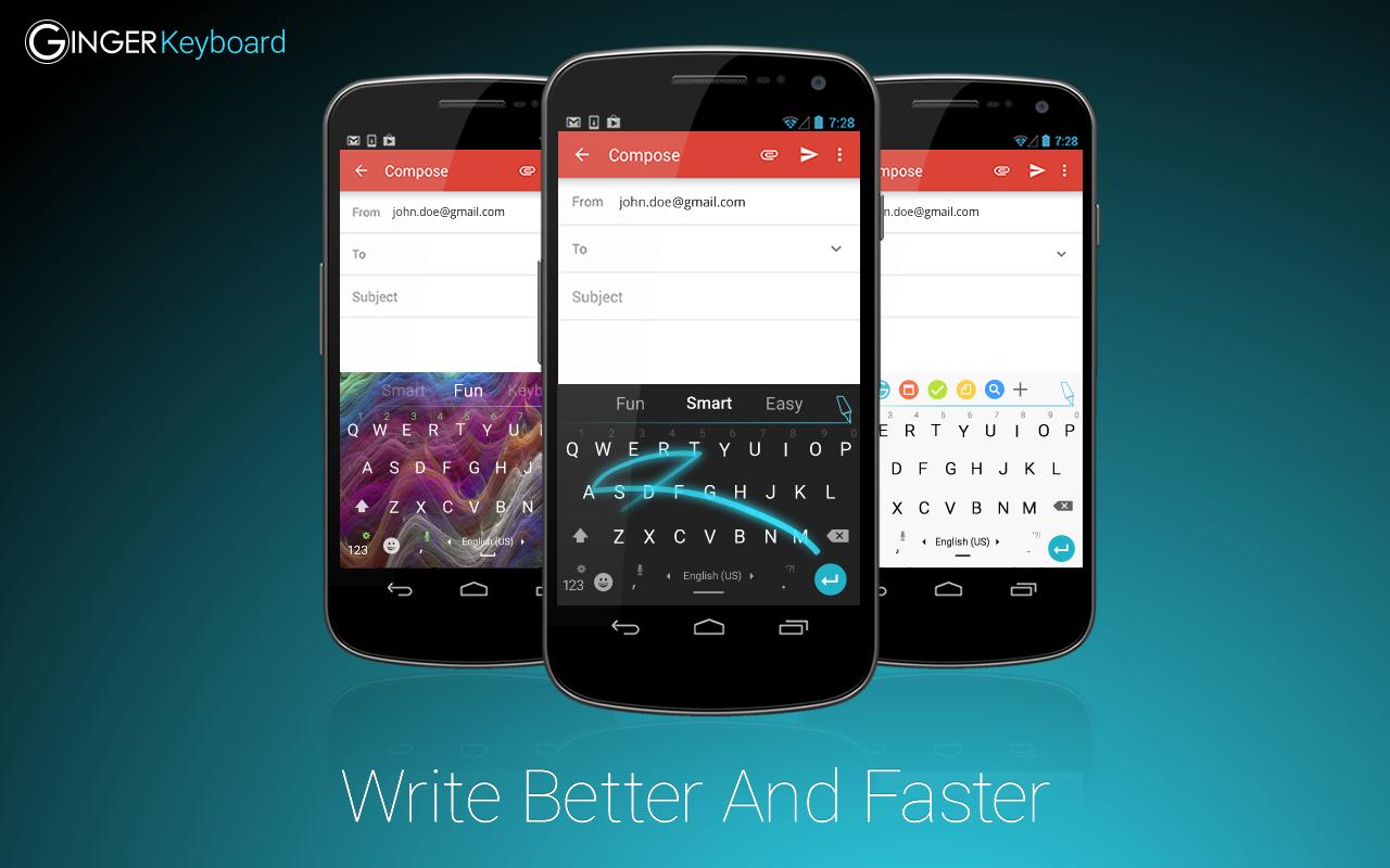 Ginger Keyboard: Emoji, Themes - screenshot