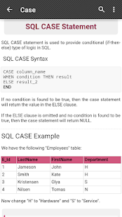 SQL Reference - screenshot thumbnail