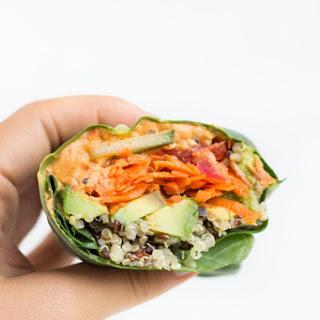 Quinoa & Veggie Collard Wraps