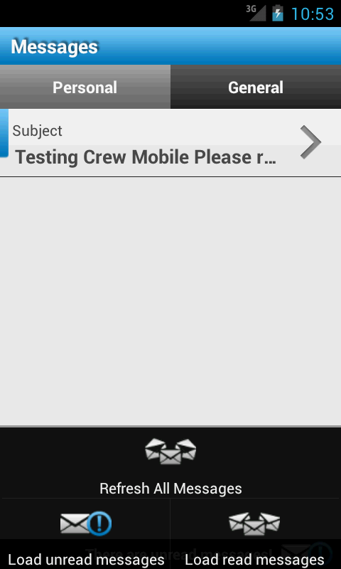 CrewApp - screenshot