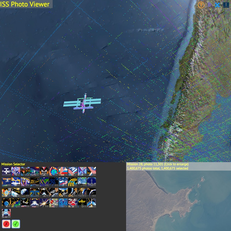 ISS Photo Viewer by Callum Prentice | Experiments with Google