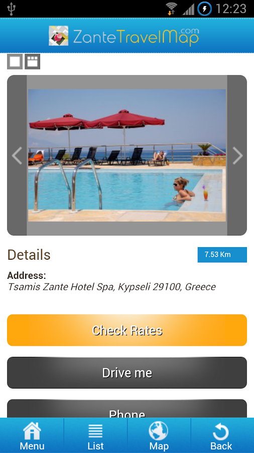 Zante Travel Map- screenshot